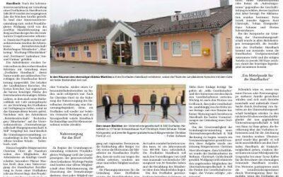 PNP Artikel über den Dorfladen Haselbach/Gründungsveranstaltung